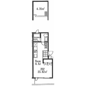 1R Apartment in Yoga - Setagaya-ku Floorplan
