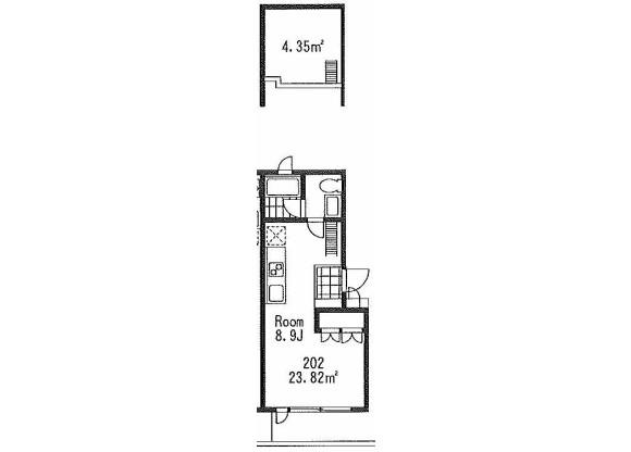 在世田谷區內租賃1R 公寓大廈 的房產 房間格局