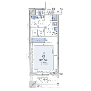 1K Mansion in Kudamminami - Chiyoda-ku Floorplan