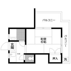 新宿区 北新宿 1K マンション 間取り