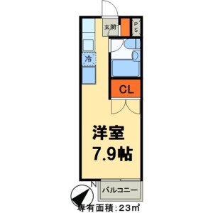 野田市 山崎 1R アパート 間取り