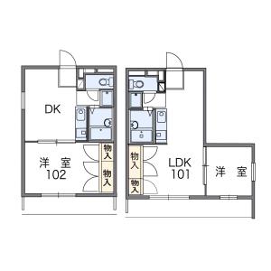 1LDK Apartment in Aihara - Sagamihara-shi Midori-ku Floorplan