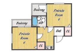 2K Apartment in Himeshima - Osaka-shi Nishiyodogawa-ku