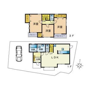 3LDK {building type} in Yotsuya - Fuchu-shi Floorplan