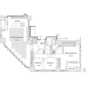 3LDK {building type} in Kojimachi - Chiyoda-ku Floorplan