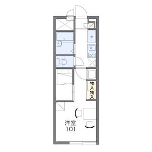 1K Mansion in Miyagusuku - Naha-shi Floorplan