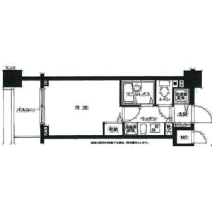 1K Mansion in Umezato - Suginami-ku Floorplan