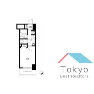 品川區東大井-1K公寓大廈 房間格局