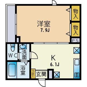 1K Mansion in Hakusan(1-chome) - Bunkyo-ku Floorplan