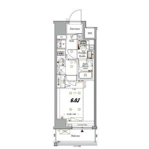 1K Mansion in Tammachi - Yokohama-shi Kanagawa-ku Floorplan