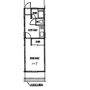 1K Apartment in Oyaguchi - Itabashi-ku Floorplan