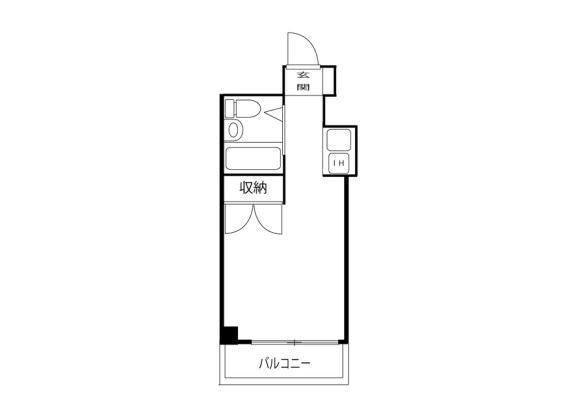 1R Apartment to Rent in Sagamihara-shi Chuo-ku Floorplan