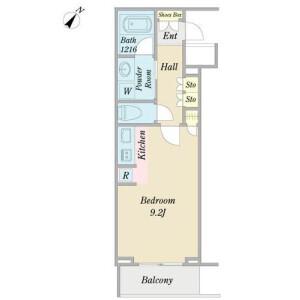 1K Mansion in Yochomachi - Shinjuku-ku Floorplan