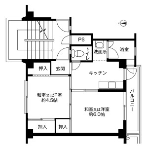 2K Mansion in Tama - Fuwa-gun Sekigahara-cho Floorplan