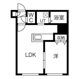 1DK Apartment in Sumikawa 4-jo - Sapporo-shi Minami-ku Floorplan
