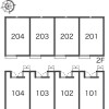 1K Apartment to Rent in Nishitokyo-shi Layout Drawing