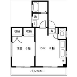 1DK Mansion in Waseda tsurumakicho - Shinjuku-ku Floorplan
