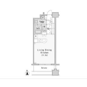 港區西麻布-1R公寓大廈 房間格局