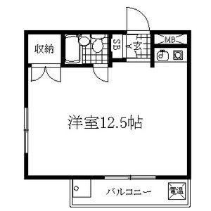 1R Apartment in Yadahigashi - Nagoya-shi Higashi-ku Floorplan