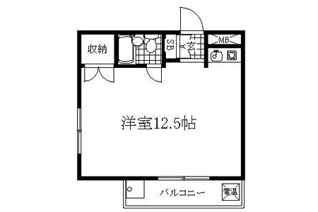1R Apartment to Rent in Nagoya-shi Higashi-ku Floorplan