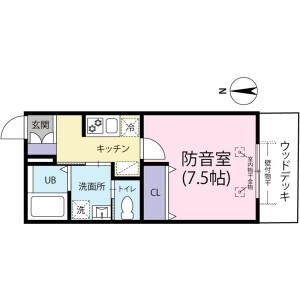 1K Mansion in Irimacho - Chofu-shi Floorplan