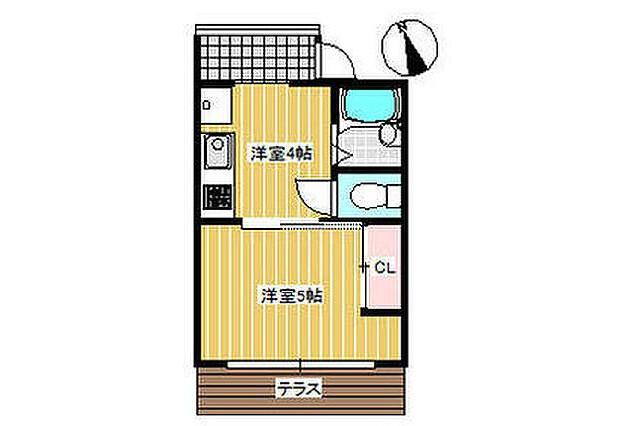 1DK Apartment to Rent in Yokohama-shi Kanagawa-ku Floorplan