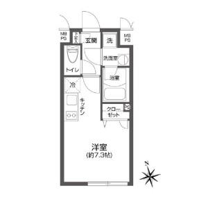 1R Mansion in Koenjiminami - Suginami-ku Floorplan