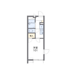 1K Apartment in Shimo - Kita-ku Floorplan