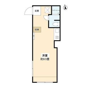 豐島區高田-1R公寓大廈 房間格局