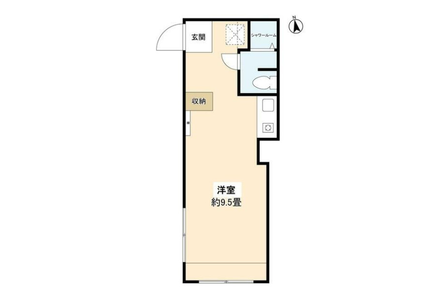 在豐島區內租賃1R 公寓大廈 的房產 房間格局