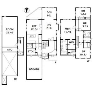 4LDK Apartment in Yoyogi - Shibuya-ku Floorplan