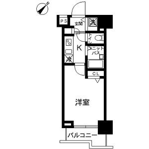 1K Mansion in Kamiikebukuro - Toshima-ku Floorplan