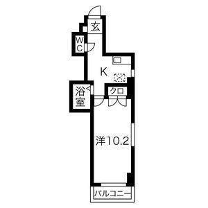 1K Mansion in Izumi - Nagoya-shi Higashi-ku Floorplan