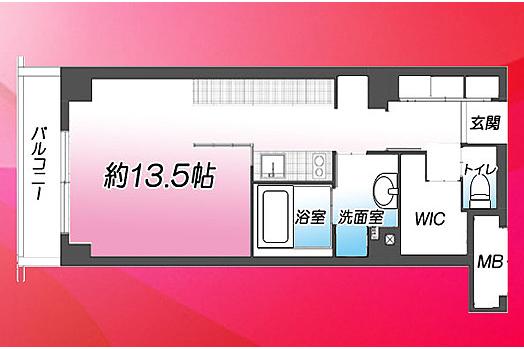 1SDK Apartment to Buy in Shibuya-ku Floorplan