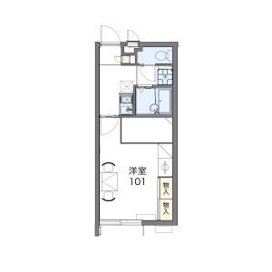 1K Mansion in Misato - Okinawa-shi Floorplan