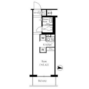 1K Mansion in Shibakoen - Minato-ku Floorplan