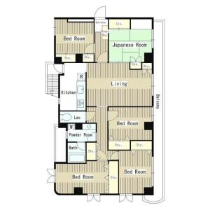 5LDK Mansion in Minamikarasuyama - Setagaya-ku Floorplan