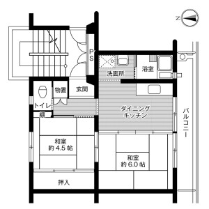 2DK Mansion in Iigura - Sosa-shi Floorplan