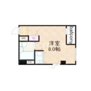 1R Apartment in Uehommachinishi - Osaka-shi Chuo-ku Floorplan