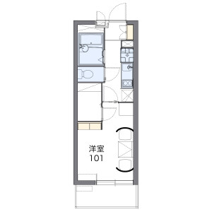 1K Mansion in Koshiencho - Nishinomiya-shi Floorplan