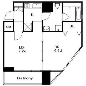 1DK Mansion in Yokoami - Sumida-ku Floorplan
