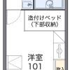 在清須市內租賃1K 公寓 的房產 房間格局