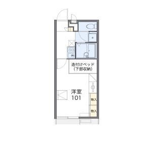 清須市西枇杷島町小田井-1K公寓 房間格局