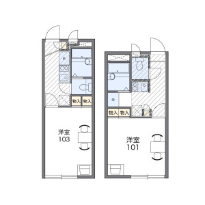 1K Apartment in Higashitamiya - Hirakata-shi Floorplan
