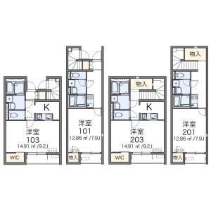 1K Apartment in Kamiisshiki - Edogawa-ku Floorplan