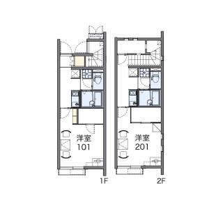 別府市内竈-1K公寓 房間格局