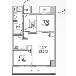 2LDK Mansion in Kojima - Taito-ku Floorplan