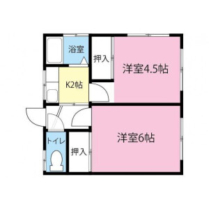 2K Apartment in Shinyoshidahigashi - Yokohama-shi Kohoku-ku Floorplan