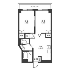 2DK Mansion in Yanaka - Taito-ku Floorplan