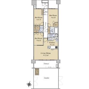 3LDK {building type} in Higashinakano - Nakano-ku Floorplan
